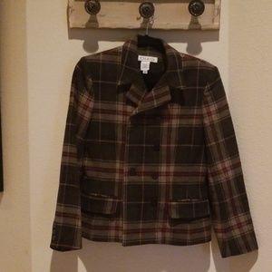 Chaus Wool Blazer Jacket Plaid Size 6